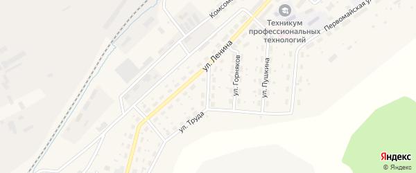 Улица Свердлова на карте Бакала с номерами домов