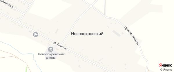 Молодежная улица на карте Новопокровского поселка с номерами домов