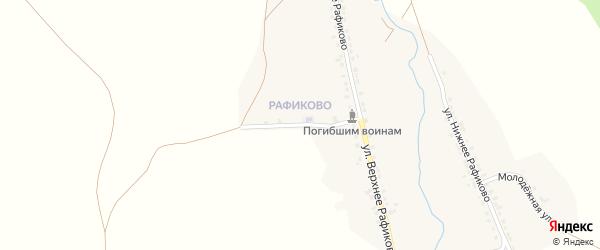 Школьная улица на карте села Миндяка с номерами домов