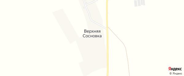 Центральная улица на карте поселка Верхней Сосновки с номерами домов