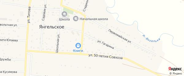 Улица Гагарина на карте Янгельского села с номерами домов