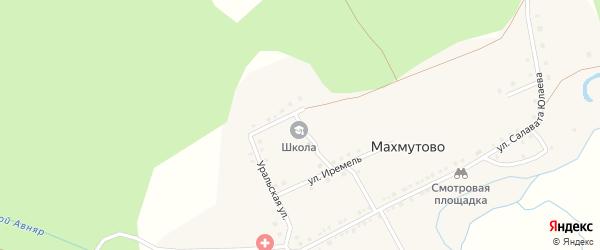 Улица М.Гафури на карте деревни Махмутово с номерами домов