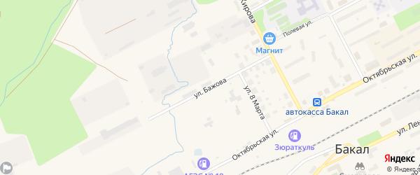 Улица Бажова на карте Бакала с номерами домов