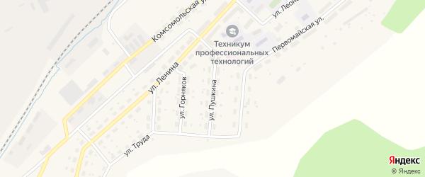 Улица Пушкина на карте Бакала с номерами домов