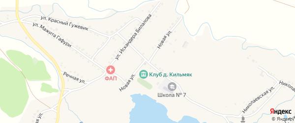 Улица Хисматуллина на карте села Миндяка с номерами домов