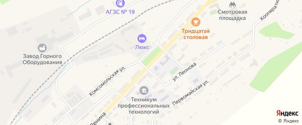 Улица Ленина на карте Бакала с номерами домов