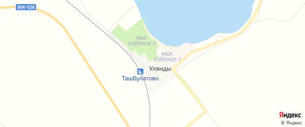 Карта деревни Улянды в Башкортостане с улицами и номерами домов