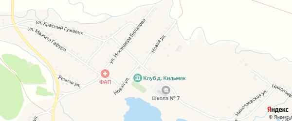 Новая улица на карте села Миндяка с номерами домов