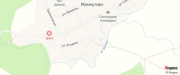 Улица Агидель на карте деревни Махмутово с номерами домов