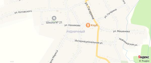 Рудничный ГСК на карте Бакала с номерами домов