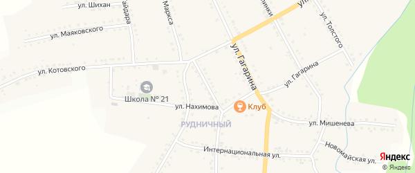 Улица Лазо на карте поселка Рудничного с номерами домов