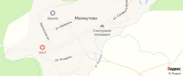Улица С.Юлаева на карте деревни Махмутово с номерами домов