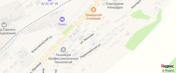 Улица Леонова на карте Бакала с номерами домов