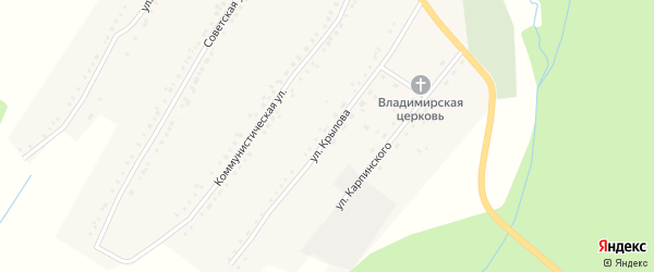 Улица Крылова на карте поселка Рудничного с номерами домов