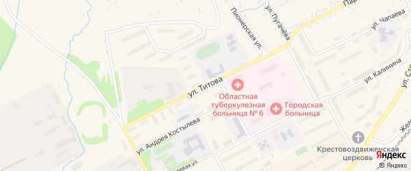 Улица Титова на карте Бакала с номерами домов