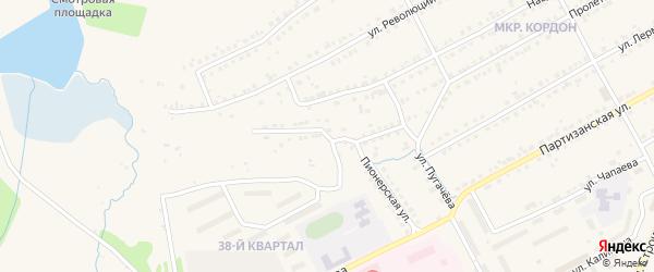 Набережная улица на карте Бакала с номерами домов