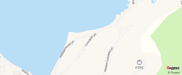 Силовая улица на карте села Миндяка с номерами домов