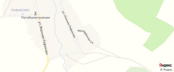 Молодежная улица на карте села Миндяка с номерами домов
