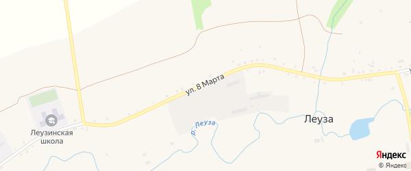 Улица 8 Марта на карте села Леузы с номерами домов