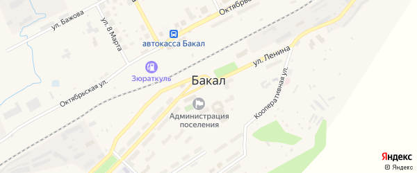 ГСК Луч на карте Бакала с номерами домов
