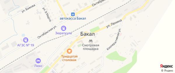 Сад Горняк-3 СНТ на карте Бакала с номерами домов