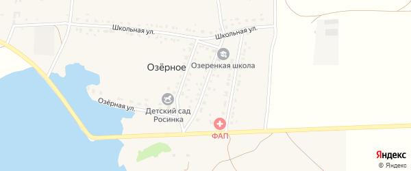 Улица Рамзии Тайсиной на карте деревни Озерного с номерами домов