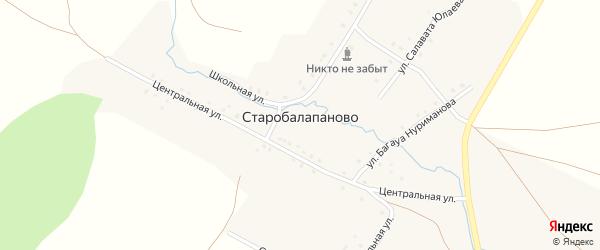 Улица Салавата Юлаева на карте деревни Старобалапаново с номерами домов