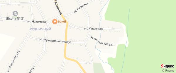 Улица Есенина на карте поселка Рудничного с номерами домов