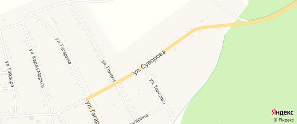 Улица Суворова на карте поселка Рудничного с номерами домов