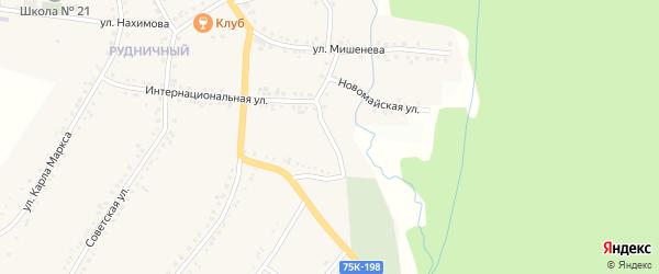 Улица Катавский Заезд на карте поселка Рудничного с номерами домов