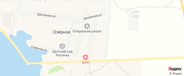 Магистральная улица на карте деревни Озерного с номерами домов