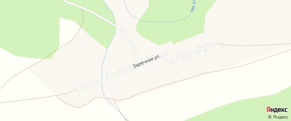 Заречная улица на карте деревни Айгырьяла с номерами домов