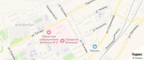 Улица Пугачева на карте Бакала с номерами домов
