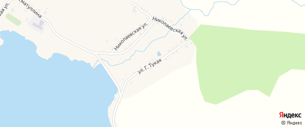 Г.Тукая улица на карте села Миндяка с номерами домов