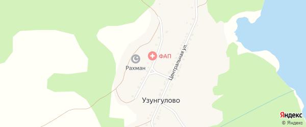 Школьная улица на карте деревни Узунгулово с номерами домов