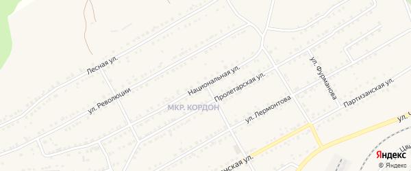 Национальная улица на карте Бакала с номерами домов