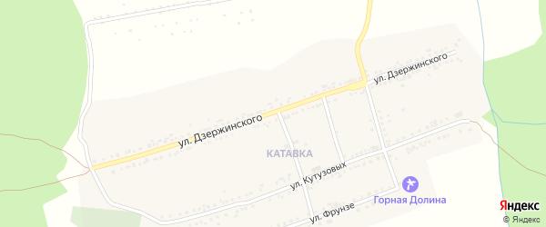 Улица Дзержинского на карте поселка Катавки с номерами домов