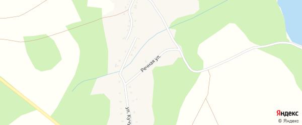 Речная улица на карте деревни Узунгулово с номерами домов