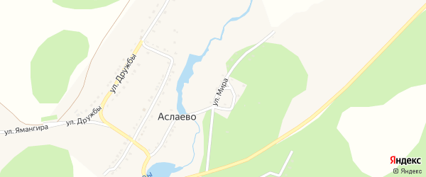 Улица Суктал на карте деревни Аслаево с номерами домов