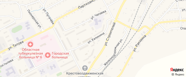 Улица Калинина на карте Бакала с номерами домов