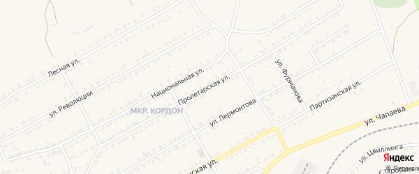 Пролетарская улица на карте Бакала с номерами домов