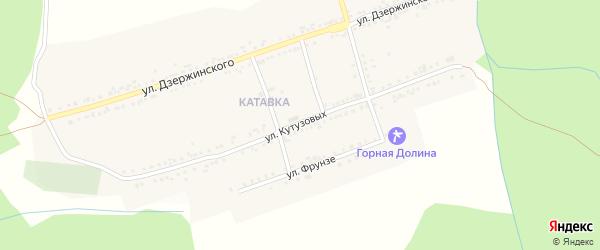 Улица Кутузовых на карте поселка Катавки с номерами домов