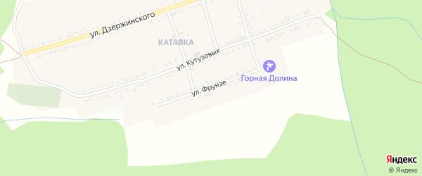 Улица Фрунзе на карте поселка Катавки с номерами домов