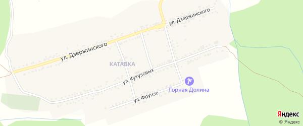 Улица Олега Кошевого на карте поселка Катавки с номерами домов