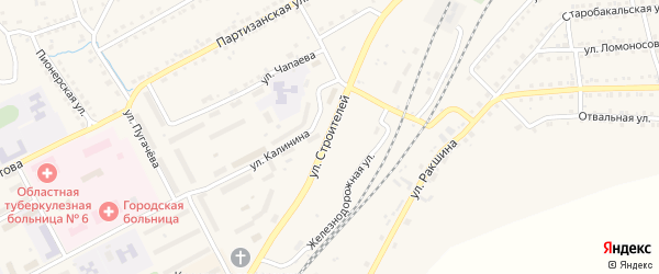 Улица Строителей на карте Бакала с номерами домов