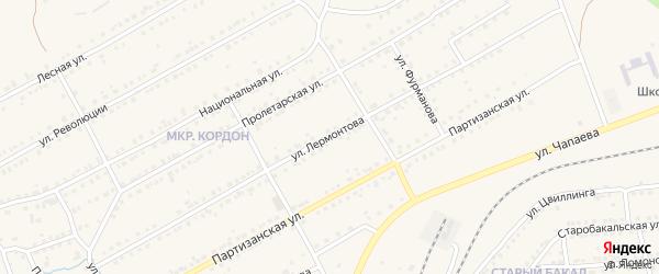 Улица Лермонтова на карте Бакала с номерами домов