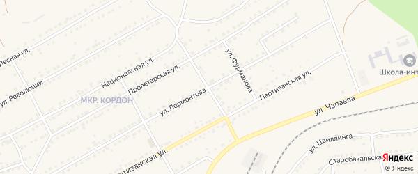 Улица Добролюбова на карте Бакала с номерами домов