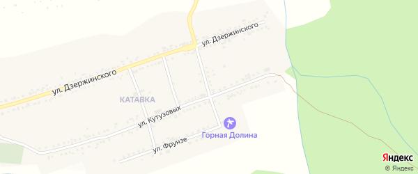 Улица Ульяны Громовой на карте поселка Катавки с номерами домов