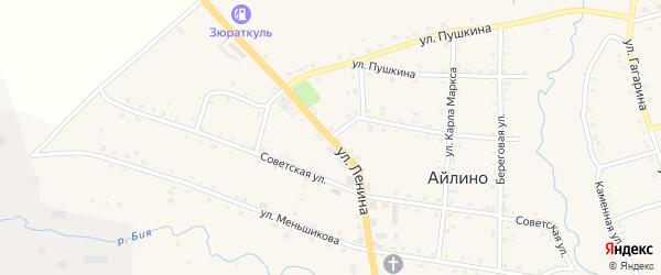 Улица Ленина на карте села Айлино с номерами домов
