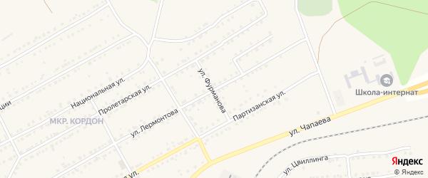 Улица Фурманова на карте Бакала с номерами домов
